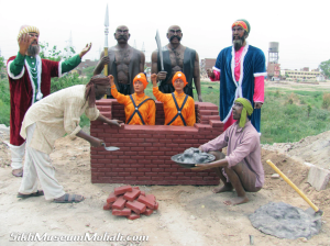 Guru Givind Singh's sons bricked alive